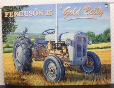 MASSEY FERGUSON 1957 35 FE35 GREY GOLD BELLY OLD FARM SCENE METAL WALL SIGN