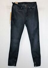 "KSUBI Brand Black Spray On Mid Rise Cropped Skinny Leg Jeans Size 25"" BNWT #TP72"