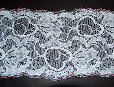 **** WIDE -  WHITE & PINK -  LACE -  155mm  Wide ****