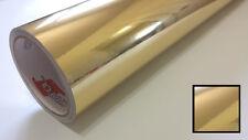 "Gold Chrome Mirror Vinyl Wrap Graphic Decal Sticker Roll Overlay Craft & Cut 24"""