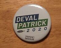 Deval Patrick Gov Massachusetts Official 2020 President Campaign Button Pin