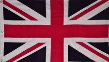 SEWN COTTON 2' X 3 ENGLAND UK FLAG - UNION JACK - ENGLISH BRITISH RED WHITE BLUE