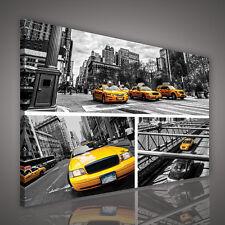 : LEINWANDBILD BILD WANDBILD BILD FOTO POSTE GELB TAXI STADT NEW YORK 3FX1988 O1