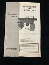 PORTER CABLE ROUTER/SHAPER & SHAPER TABLE MODELS 695,696 INSTRUCTION MANUAL
