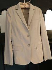 DKNYC Classic Khaki Beige Cotton Blazer Jacket 2Button Front L/Slve Sz 2 PRETTY!