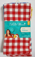 New Pioneer Woman Gingham Cloth Napkins Set of 4 Check FabricNew