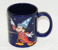 MICKEY MOUSE FANTASIA SORCERER BLUE COFFEE MUG BY LINYI HEADWIND GUC