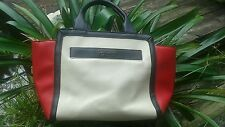 """KENNETH COLE REACTION """"VEGAN"""" RED, WHITE AND BLUE TOTE"""