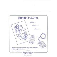 6 Sheets Large White SHRINKLES SHRINKIE Shrink Art Plastic 262 X 202mm