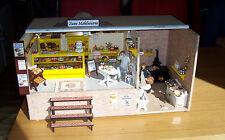 1:12 panetteria CAFE bambole Tube casa delle bambole PEZZO UNICO LAVORO MANUALE LEGNO FIMO