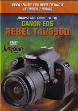 JumpStart Canon EOS Rebel T4i 650D Instructional DVD Camera Guide