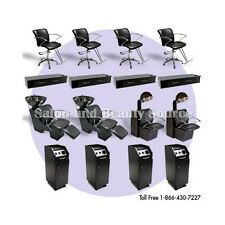 Salon Spa Package Backwash Shampoo Unit Styling Chairs