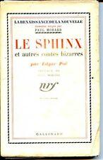LE SPHINX ET AUTRES CONTES BIZARRES - Edgar Poë - NRF 1934