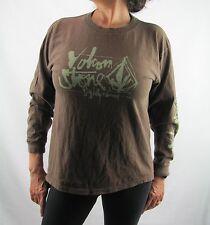 Volcom Brown Green Long Sleeve Shirt  Size XL  ST20