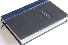 UKRAINIAN Bible leatherette blue grey soft cover NEW