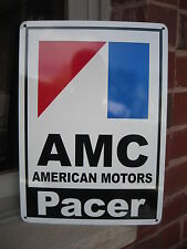 AMC Pacer American Motors Racing Sign AMX Service Mechanic Garage Ad SIGN