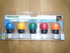 MEGAMAN Party Color 4W B22 Energy saving bulbs with rubber coating.