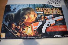 cabela's dangerous hunts 2011 jeu + top shot elite fusil nintendo wii gun pal