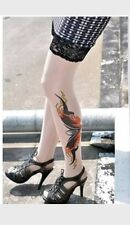 san ink lace top stockings tattooed stay ups tights fancy dress halloween