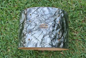 """60s SLINGERLAND 13"""" BLACK DIAMOND PEARL TOM SHELL + BADGE for YOUR DRUM SET M762"""