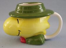 Woodstock Coffee Cup Mug Head Peanuts Snoopy Small Chips On Hat Brim Vintage