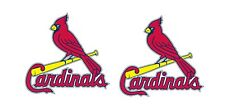 "(Pair) St Louis Cardinals Cornhole Board (2) 10.5"" x 11"" Decals/Stickers"
