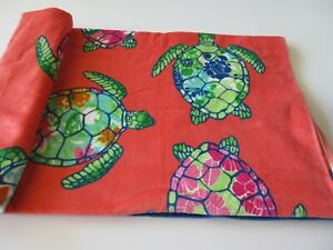 """Cynthia Rowley 36"""" x 70"""" Oversize Beach Towel With Turtles Print New With Tag"""