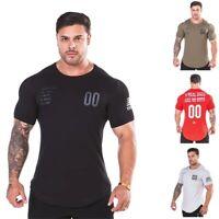 Bulking Mens T-Shirt Gym King Bodybuilding Vq Fitness Alpha Training Workout Top