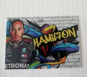 2020 TOPPS CHROME TRACK TAGS LEWIS HAMILTON  #1 (REFRACTOR LOOK)