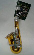 "Old World Christmas ""Saxophone"" Ornament-GLASS"