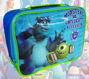 Monsters University Lunch Bag Box School Nursery Holidays Childrens Kids