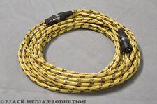 XLR Mikrofonkabel SC-Club Textilüberzug gelb/schwarz  | Hicon Stecker *NEU*