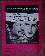 DELON Charles BRONSON FOSSEY scenario pressbook film ADIEU L'AMI