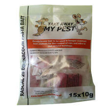 60 PASTA Poison Bait Blocks Rodent Killer for Mice Mouse OR Rat (4 PACKETS)