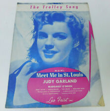 The Trolley Song Hugh Martin Judy Garland Sheet Music Complete 9 pages 1944