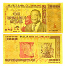 "★★ ZIMBABWE : BILLET POLYMER  "" OR "" DU 1 VIGINTILLION DOLLARS  ★★"