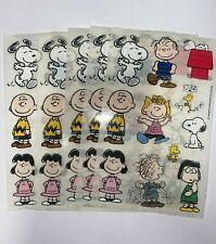 "Sandylion Peanuts lot of 5 SHEETS Size 4"" X 6""  -New- Hot"