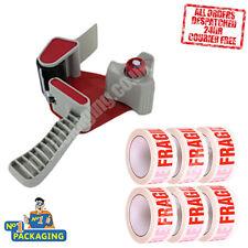 Tape Gun Dispenser + 144 Large Rolls Of Fragile Parcel 48mm x 66m Packing Tape