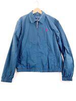 $145 NWT Polo Ralph Lauren Harrington Aviator Blue Bomber Jacket Red Size Large