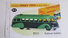 Dinky Toys Atlas - Fascicule SEUL de l'Autocar Isobloc (Booklet only)