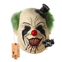 Halloween Latex Creepy Clown Mask With Small Hat Adults Costume Party Props Mask