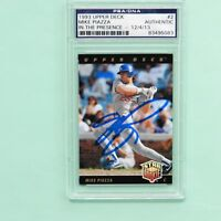 Mike Piazza Autographed 1993 Upper Deck Rookie Card # 2, PSA/DNA