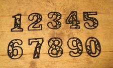 "Vintage-Style Cast Iron Address Numbers 4 5/8"" tall (Set of All Ten) 0184S-0558"