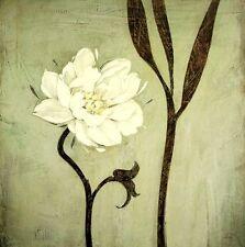 Ivo: Avorio Bloom stile Asia Fiori fatto - immagine 70x70 Quadro su tela