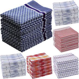 5er 10er Set Geschirrhandtücher Küchentücher Grubentüche 100% Baumwolle  Heim24h