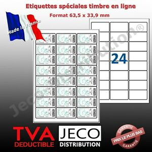 étiquettes autocollantes Timbre en ligne La Poste lettre suivie /ref Avery L7159
