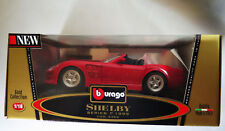 6740:Bburago Shelby,Series1, 1999,1:18,rot, Gold Edition,Mod.3353, in OVP.