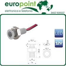 Faretto spot da incasso segnapasso LED 0,2 Watt 12V in acciaio bianco caldo