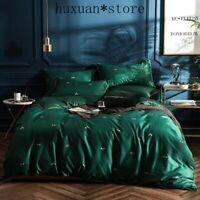 Luxury Green Little Bees Print Long Staple Egyptian Cotton Fabric Bedding Set