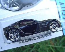2014 Hot Wheels 29/250 Black ALFA ROMEO 8C COMPETIZIONE New in SEALED Package!